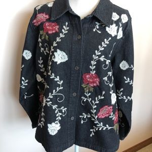 Denim and Company floral jacket